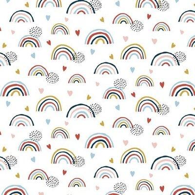 Organic Jersey - Rainbow White