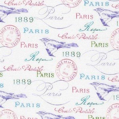 Designer fabric - Paris In Bloom