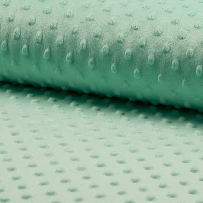 Minky Dot Fleece - Mint