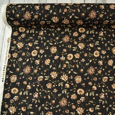 Poplin Floral Black