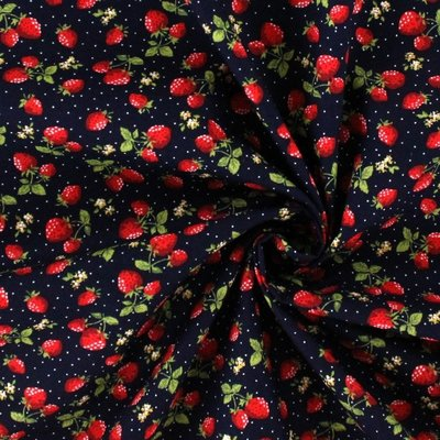 Poplin - Yummy Berries Navy