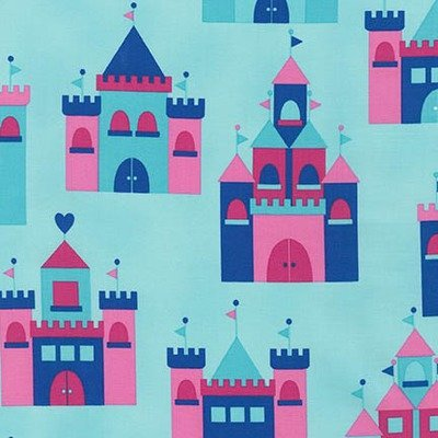 Designer fabric - Princess Life Castle Cristal