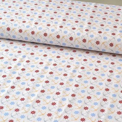 Printed Cotton - Anchor Pastel
