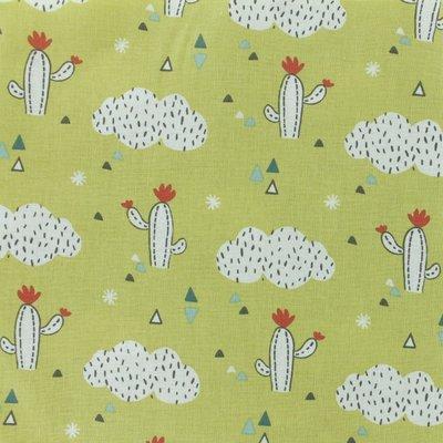 Printed cotton - Cactus Vert