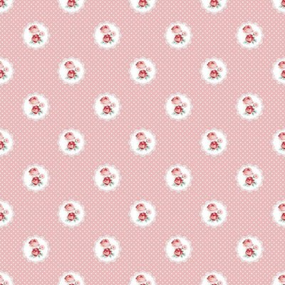 Printed Cotton - Charming Roses Rose