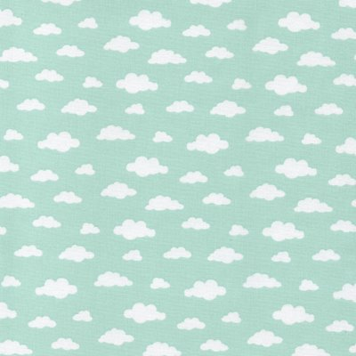 Printed Cotton -  Ciel Mint