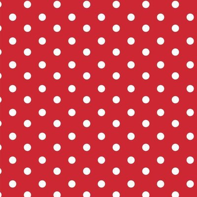 Printed Cotton - Dots Red