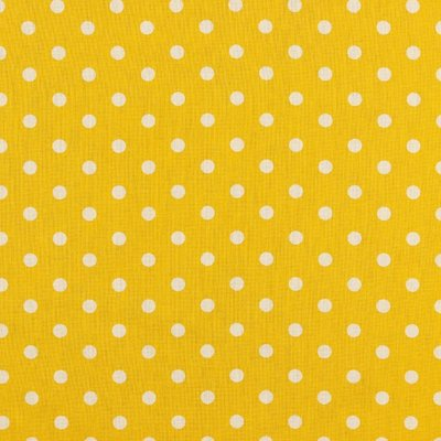 Printed Cotton - Dots Yellow
