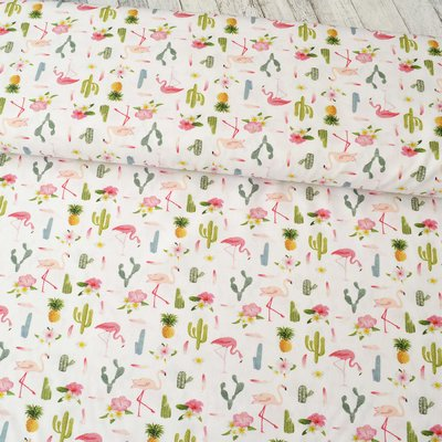 Printed Cotton - Flamingo