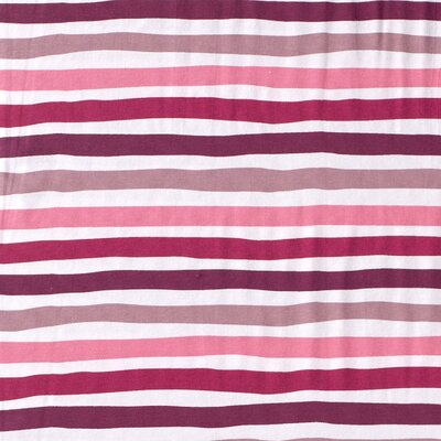 Printed Cotton Jersey - Stripes Dark Pink
