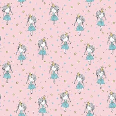 Printed Cotton - Little Princess Pink