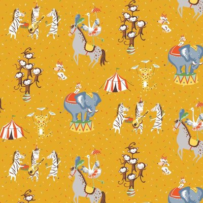Printed Cotton - Magic Circus Yellow