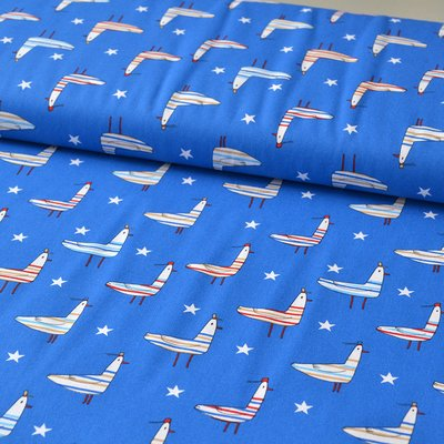 Printed Cotton - Seagul Blue