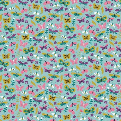 Printed Cotton - Summer Aqua