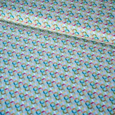Printed cotton Trellis Turquoise