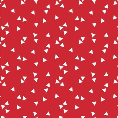 Printed Cotton - Triangles Red