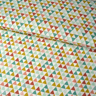 Printed cotton - Triangles Vintage