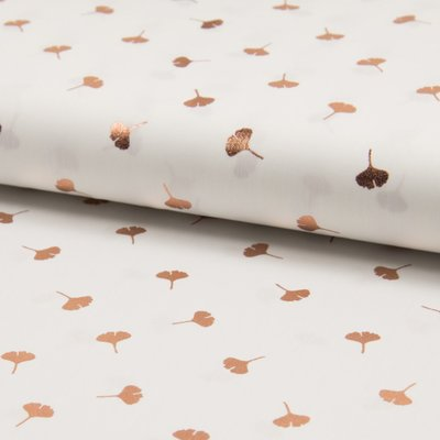 Printed cotton with gold -Gold Leaves