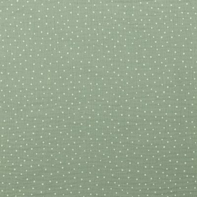 Printed Double Gauze - Little Dots Light Green