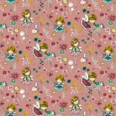 Printed Poplin - Magical Garden Blush