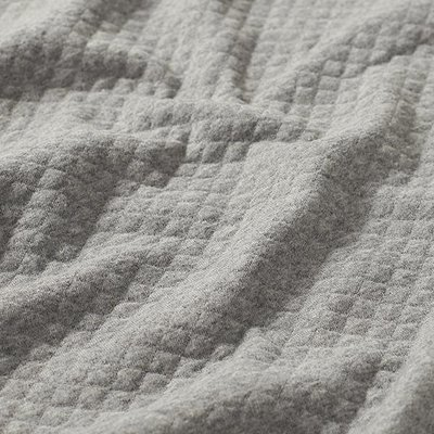 Quilted Cotton  Jersey- Grey Melange