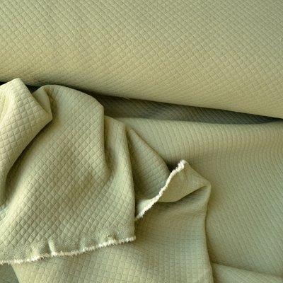Quilted Cotton Jersey- Mini diamond Khaki