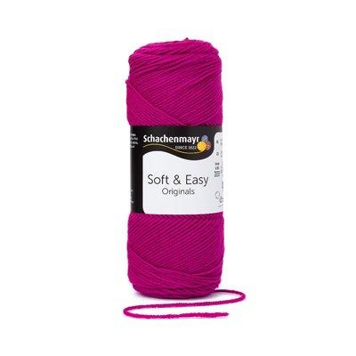 Soft & Easy Yarn - Fuchsia - 100g