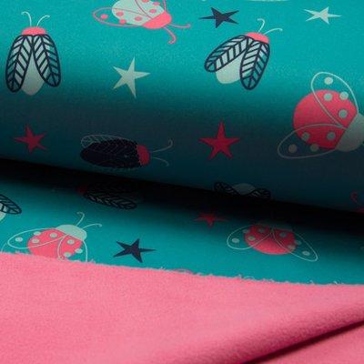 Soft Shell fabric - Bugs Mint