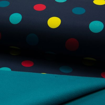 Soft Shell fabric - Dot Navy