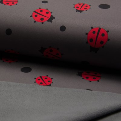 Soft Shell fabric - Ladybug Grey