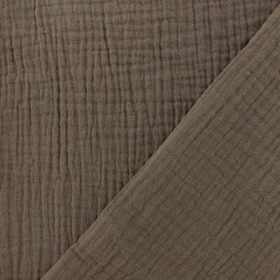 Solid Double Gauze - Taupe