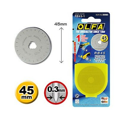 Spare blade Olfa cutter 45mm RB-45-1