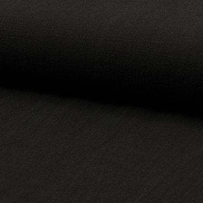 Stonewashed linen - Black