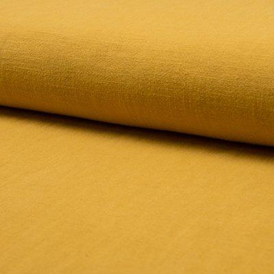 Stonewashed linen - Ocre