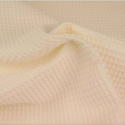 Waffle Cotton Fabric Cream