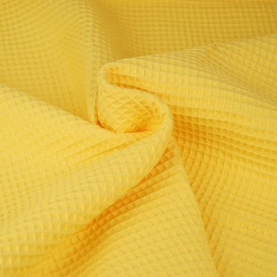 Waffle Cotton Fabric Yellow