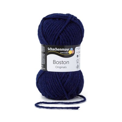 Wool blend yarn Boston-Navy 00054