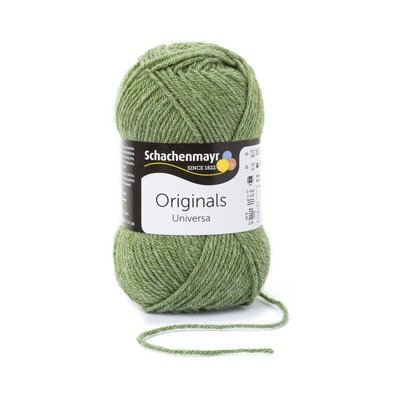 Wool blend yarn Universa - Green Melange