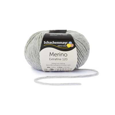 Wool Yarn - Merino Extrafine 120 Light grey