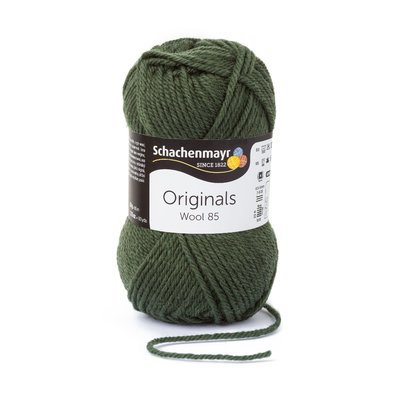 Wool Yarn Wool85 - Olive 00271