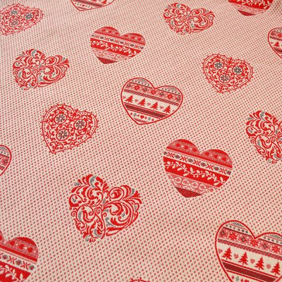 Woven Cotton Jacquard - Hearts - 280 cm wide