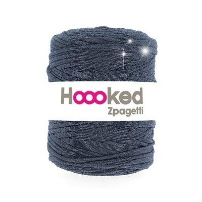 Banda textila pentru tricotat - Zpagetti Glitter Denim