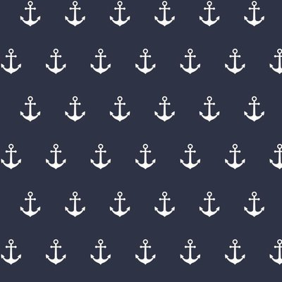 Bumbac imprimat - Anchor Party Navy