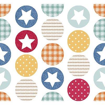 Bumbac Imprimat - Baby Stars Multi