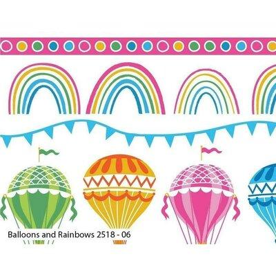 Bumbac Imprimat - Balloons & Rainbow