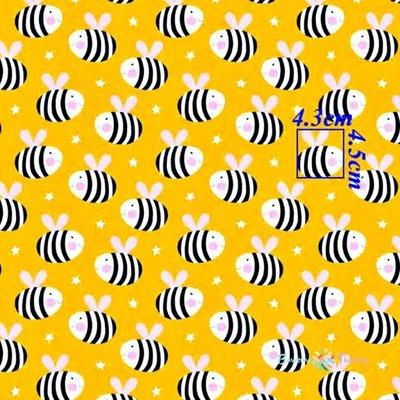 Bumbac imprimat - Bees Yellow - latime 160cm