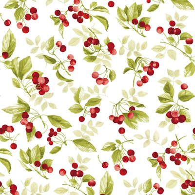 Bumbac Imprimat digital - Cherries