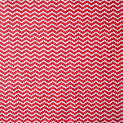Bumbac Imprimat - Chevron Red