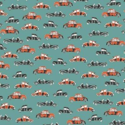 Bumbac imprimat - Cool Cars Sage