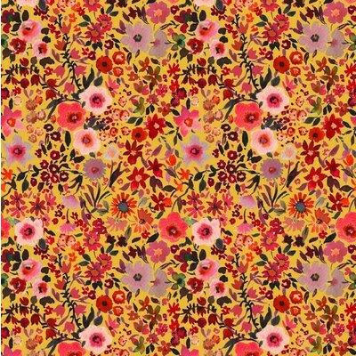 Bumbac imprimat digital - Fleur Yellow